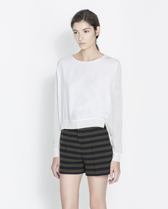 Image 1 of COMBINED SWEATER from Zara