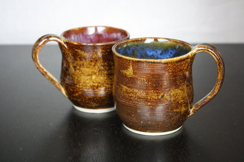 Couples handmade coffee mug set by turnedtostonejewelry