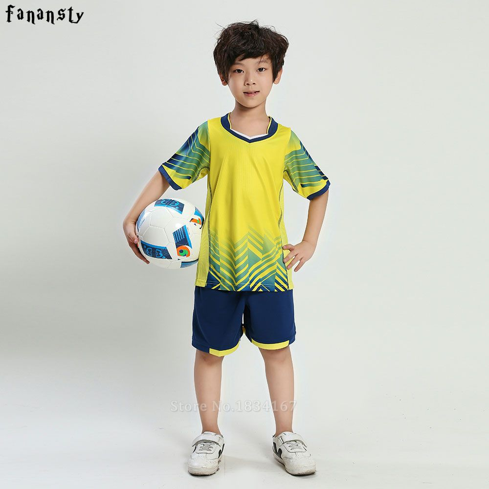 a46df9753 buy football jersey set new kids soccer training suits sports sets football  kits boys custom jerseys  sports  uniforms
