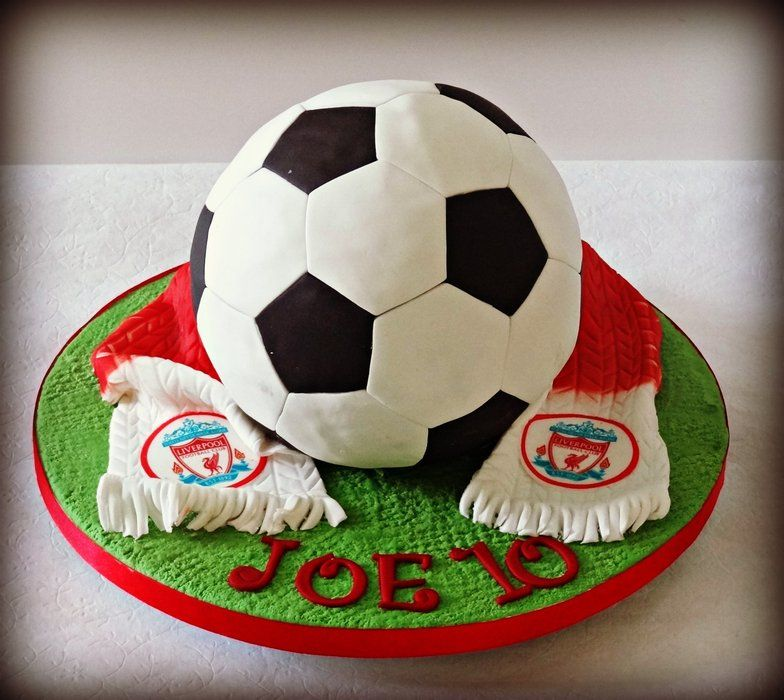 Liverpool Football By Adorecake Cakesdecor Com Cake Decorating Website Liverpool Cake Soccer Ball Cake Football Cake