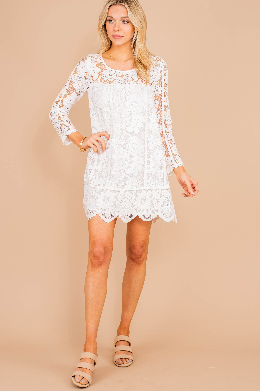 Leave An Impression Ivory White Lace Dress White Lace Dress Short Lace White Dress Cocktail Dress Lace [ 3000 x 2000 Pixel ]