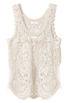 Lace Crochet Vest