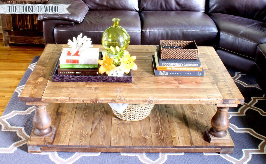 Balustrade coffee table coffee table plans diy coffee