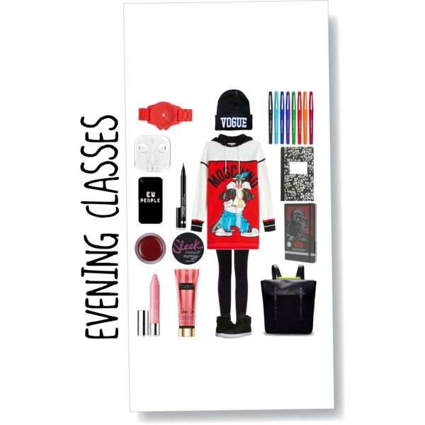 Untitled #6 by ahmedfazira on Polyvore featuring polyvore, мода, style, Moschino, Vince, Supra, Vince Camuto, Clinique, Moleskine, J.Crew and Paper Mate