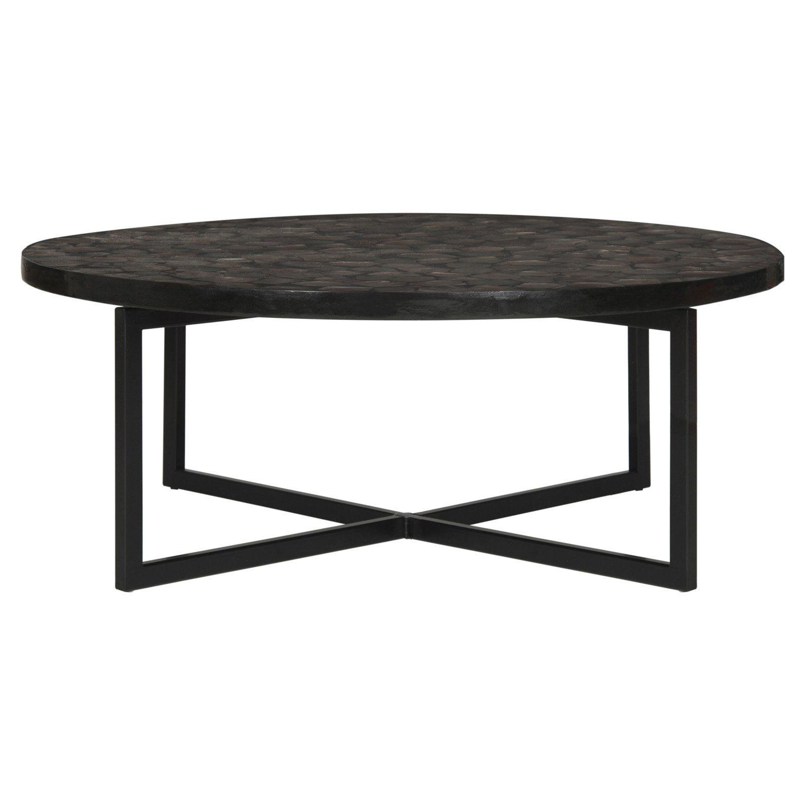 Safavieh Cheyenne Round Coffee Table Brown Coffee Table Coffee Table Grey Coffee Table [ 1600 x 1600 Pixel ]