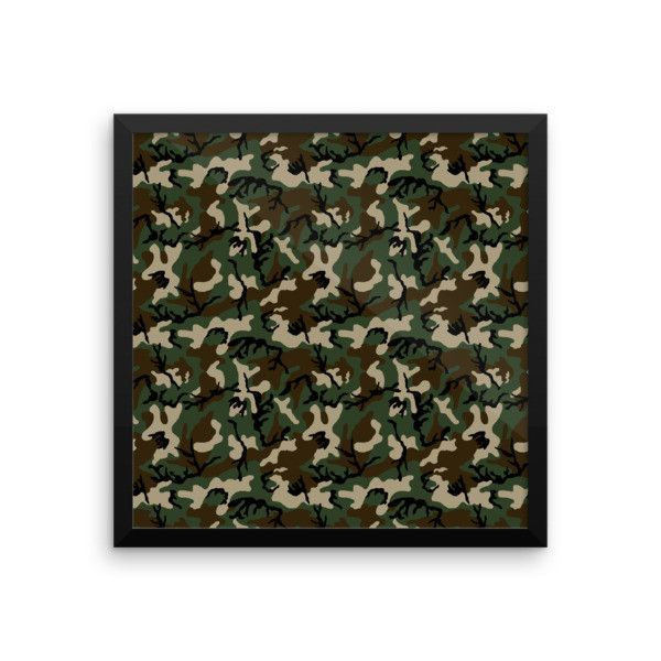 American Woodland Camo Framed photo paper poster