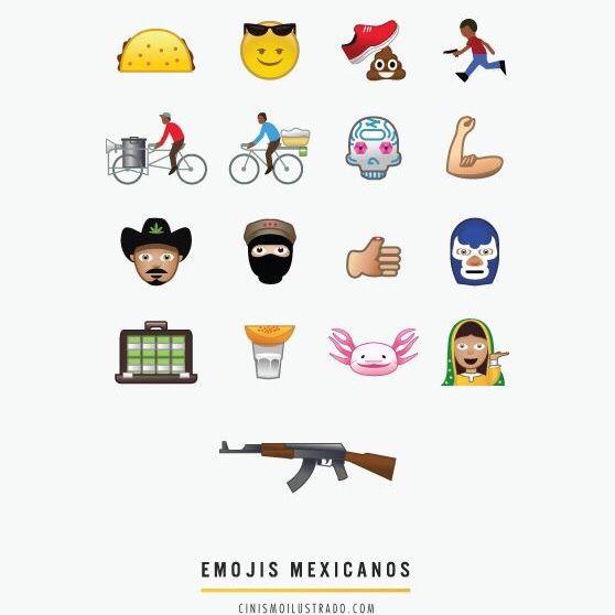 Mexican emojis | Life poster, Mexicans, Emoji
