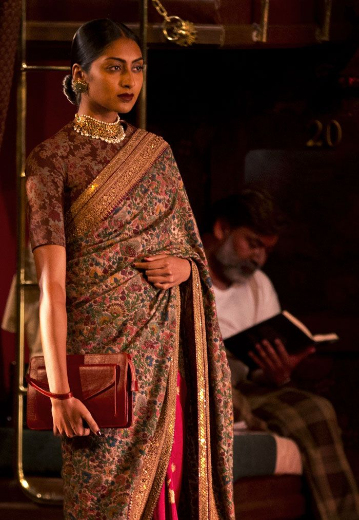 Sabyasachi weaves sari magic on first day of India