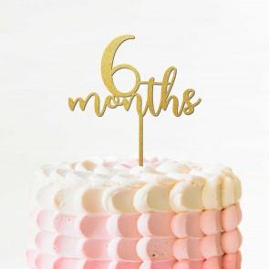 Silver Baby Cake Topper First Birthday Decoration Celebration Children Party