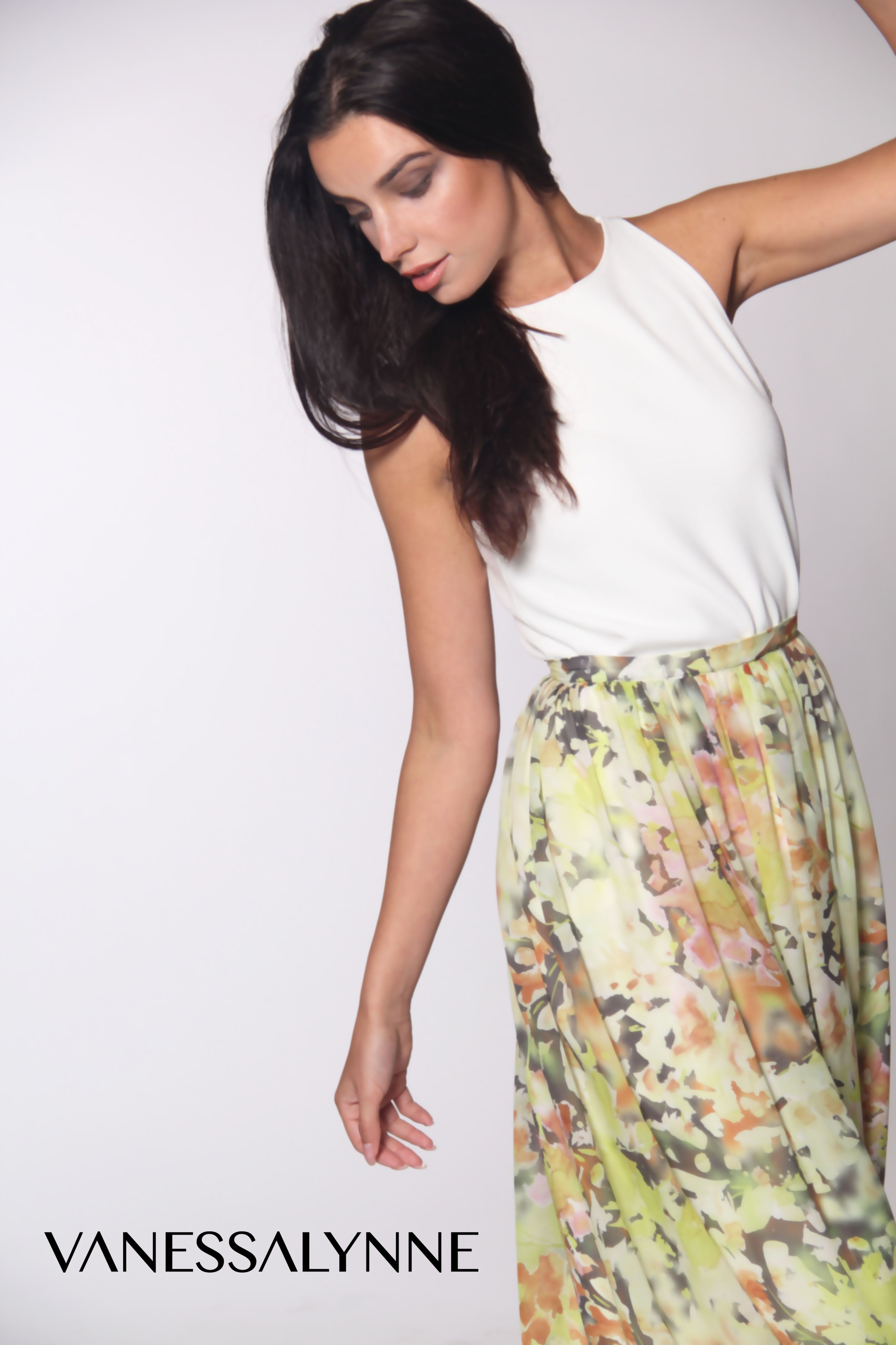 Summer fashion! Floral Maxi Skirt available now on www.vanessalynne.com.  #spring #summer #fashion #designer #availablenow #floral #maxi #skirt #beautiful #style