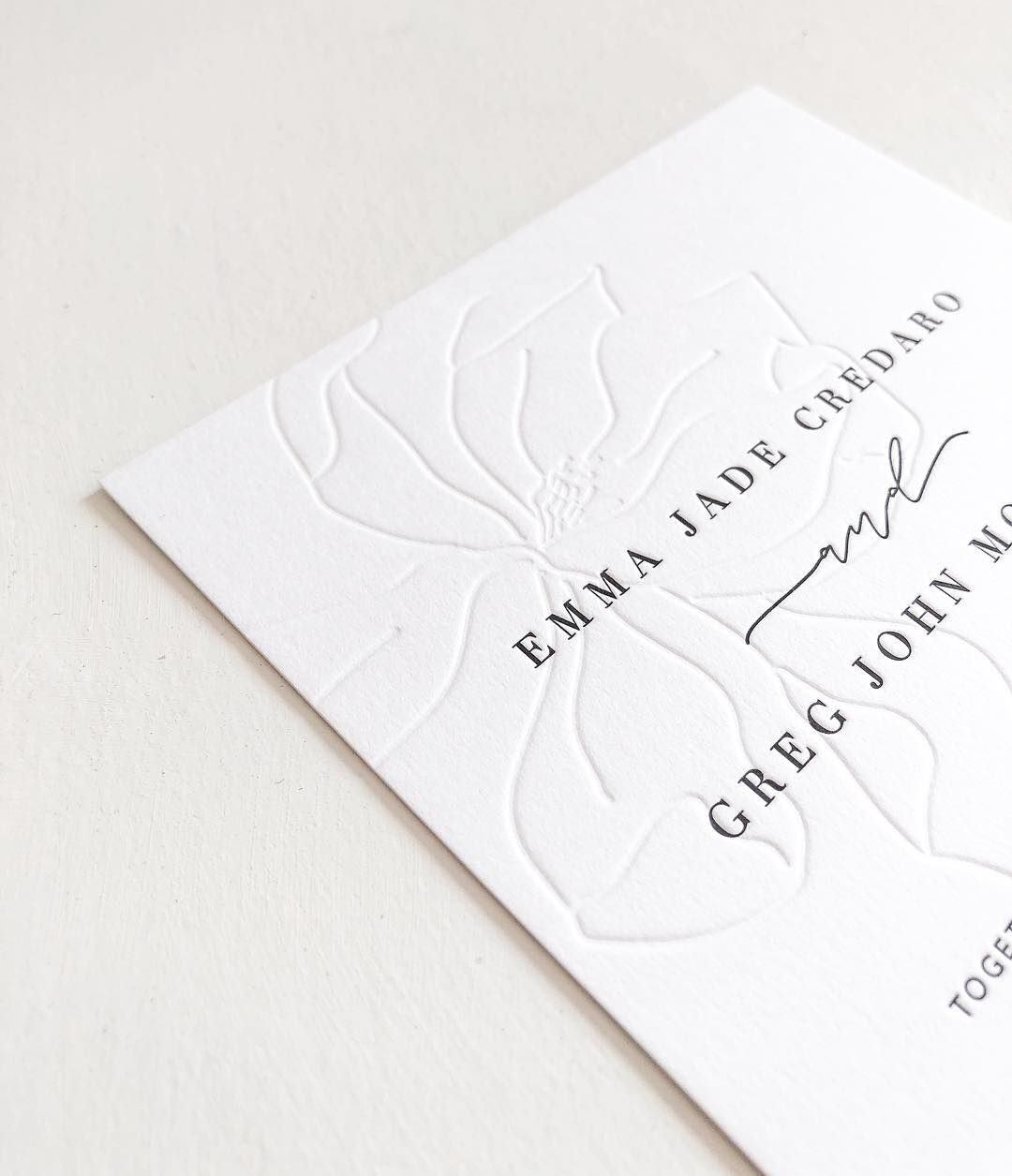 Instagram Design In 2019 Letterpress Wedding Invitations
