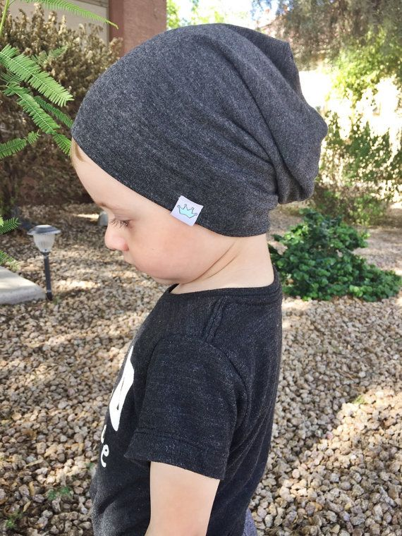 6cd20621 Gray slouchy beanie / Slouchy baby beanie boy / Hipster baby clothes ...