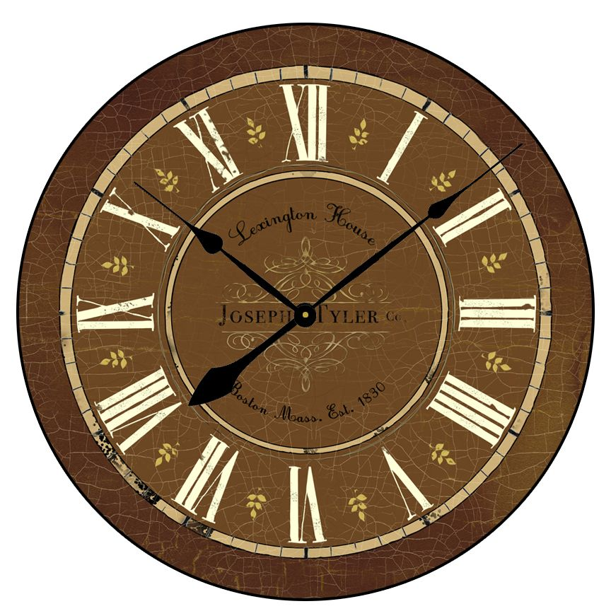 Vermont Brown Clock Large Wall Clocks Home Decor Many Sizes Available Starting