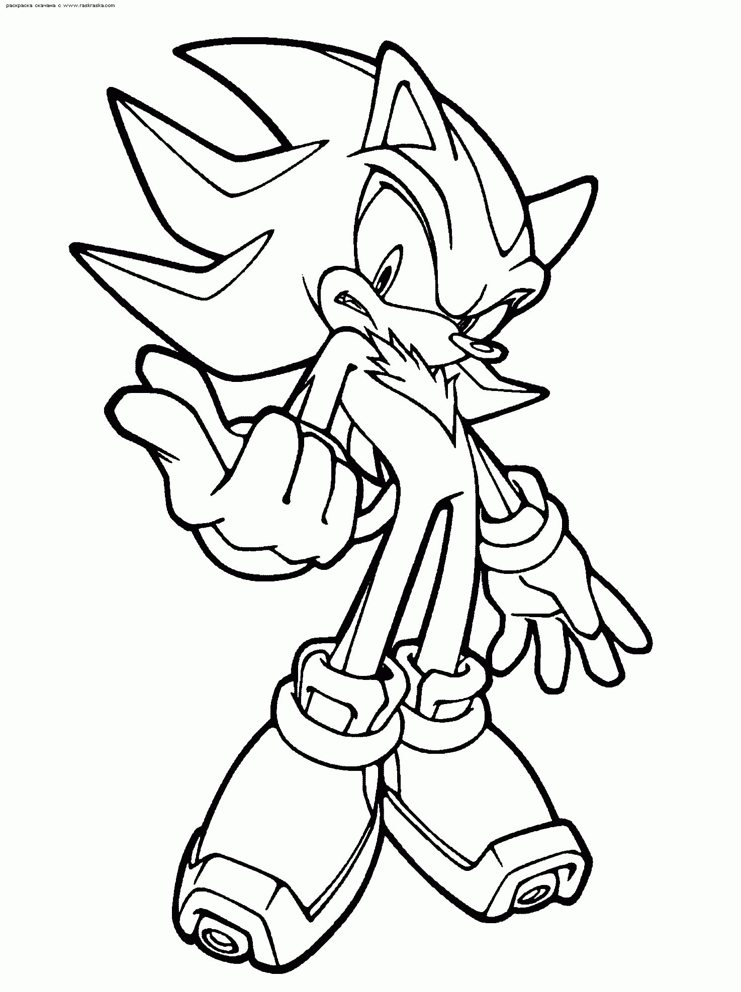 Coloring Pages Of Sonic And Shadow