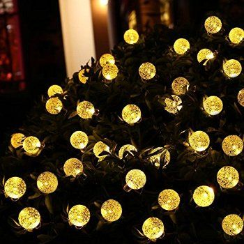 Shop for ledertek decorative battery operated crystal ball string shop for ledertek decorative battery operated crystal ball string lights 30 led 108ft globe lighting dcor 8 modes automatic timer for outdoor indoor mozeypictures Image collections