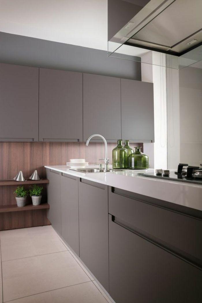 1001 ideas de decorar vuestra cocina blanca y gris for Cocinas integrales disenos modernos
