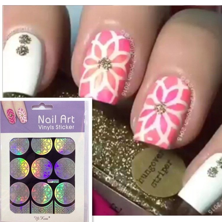 HOT SALE Easy Stamping Tool Nail Art Template Stickers Vinyl ...