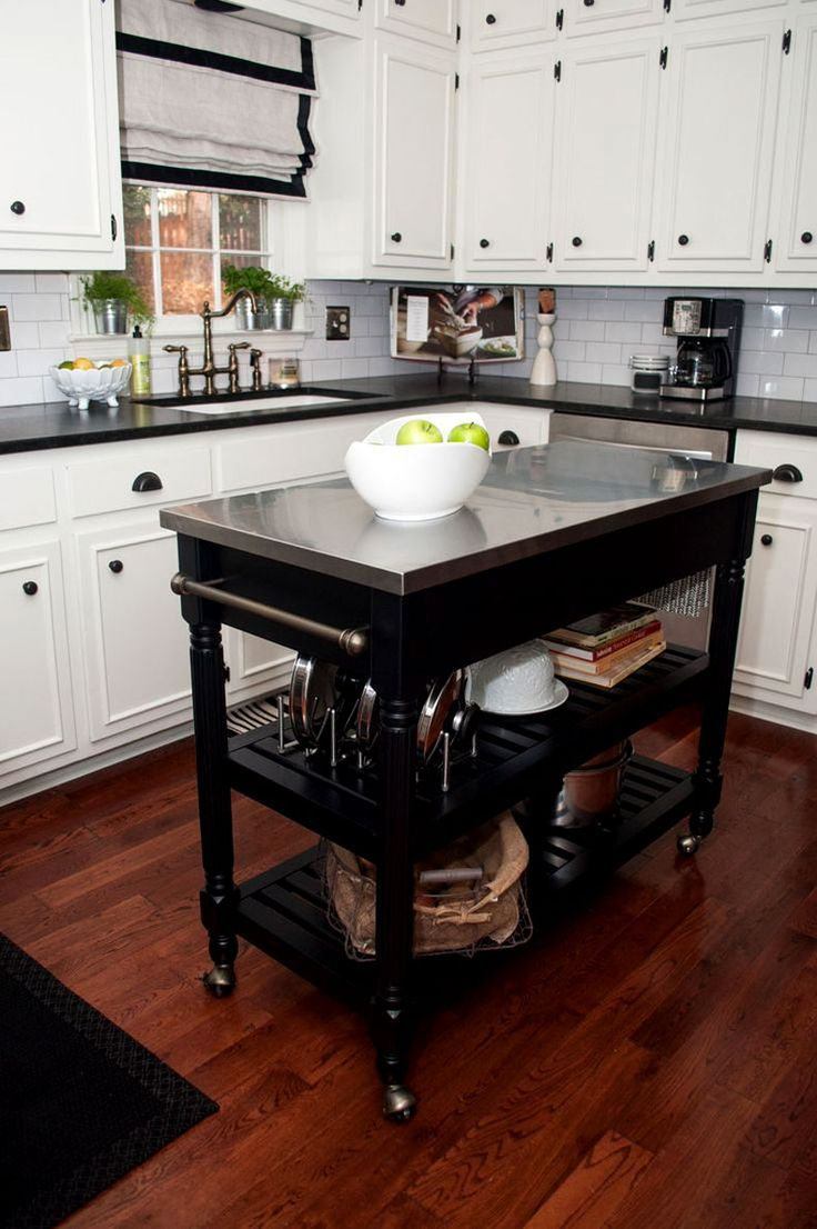 Kitchen:Butcher Block Kitchen Island Kitchen Island On Wheels Metal ...