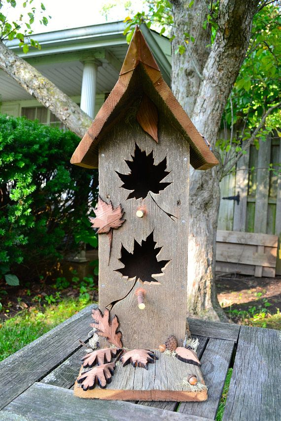 Rustic Bird House, Reclaimed Barn Wood Birdhouse, Cedar Birdhouses, Unique Bird Home #rustichouse