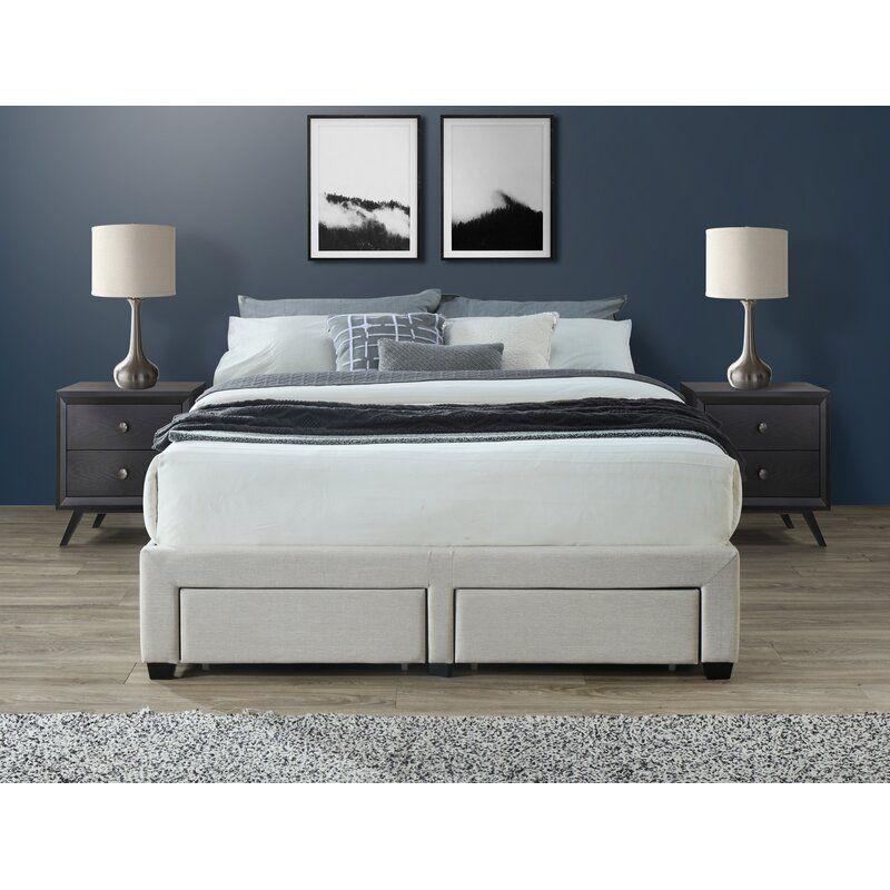 Braham Queen Upholstered Storage, Wayfair Queen Platform Bed With Storage