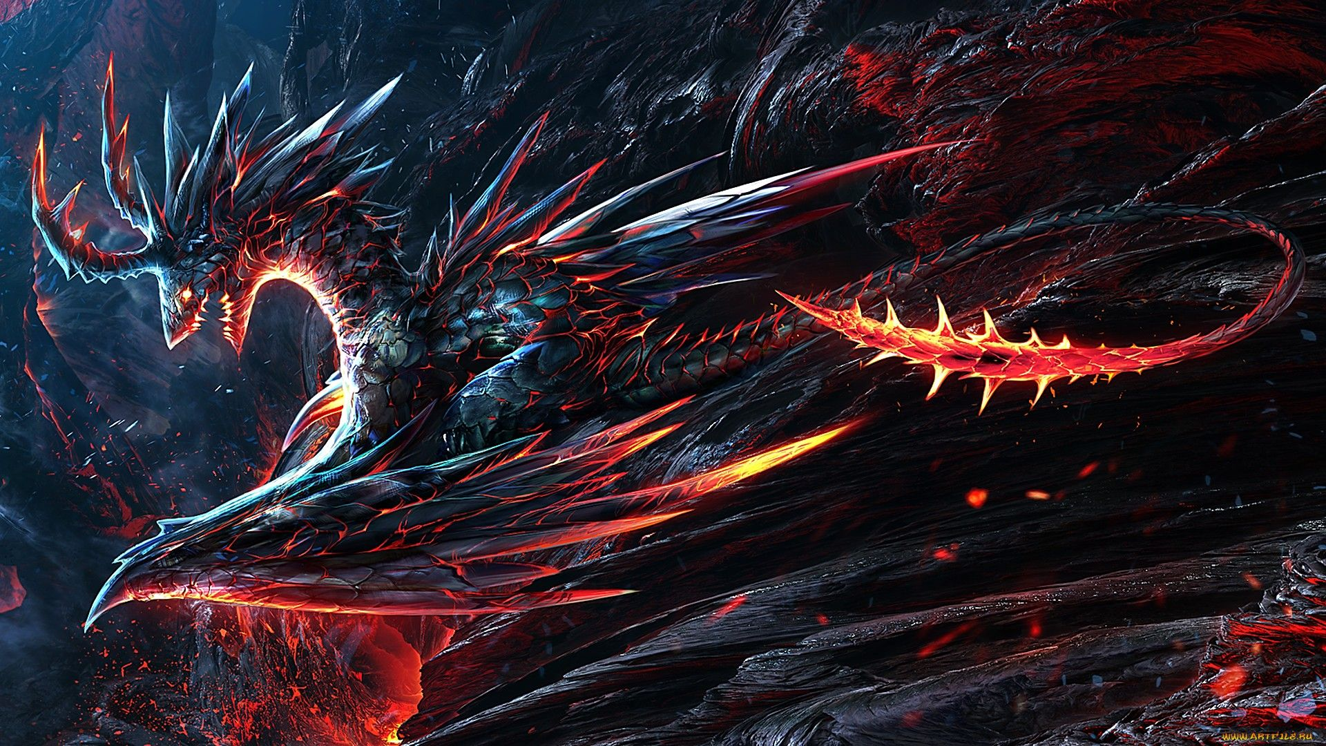 Badass Dragon Wallpaper 1080p Hd Mario Dragon Dark Backgrounds