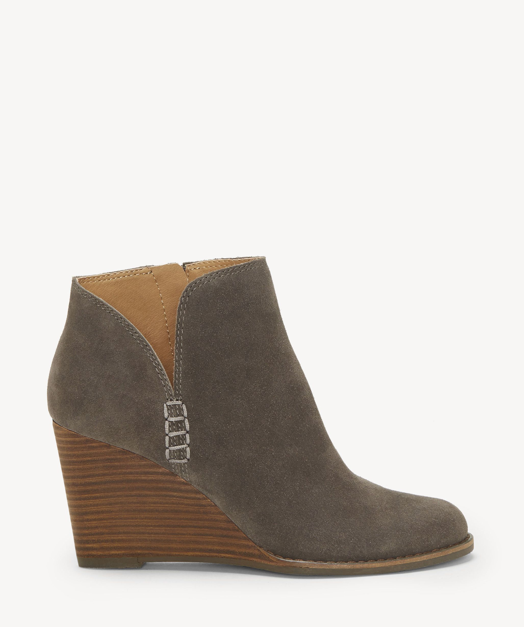 Lucky Brand Women/'s Yabba Stacked Wedge Ankle Bootie