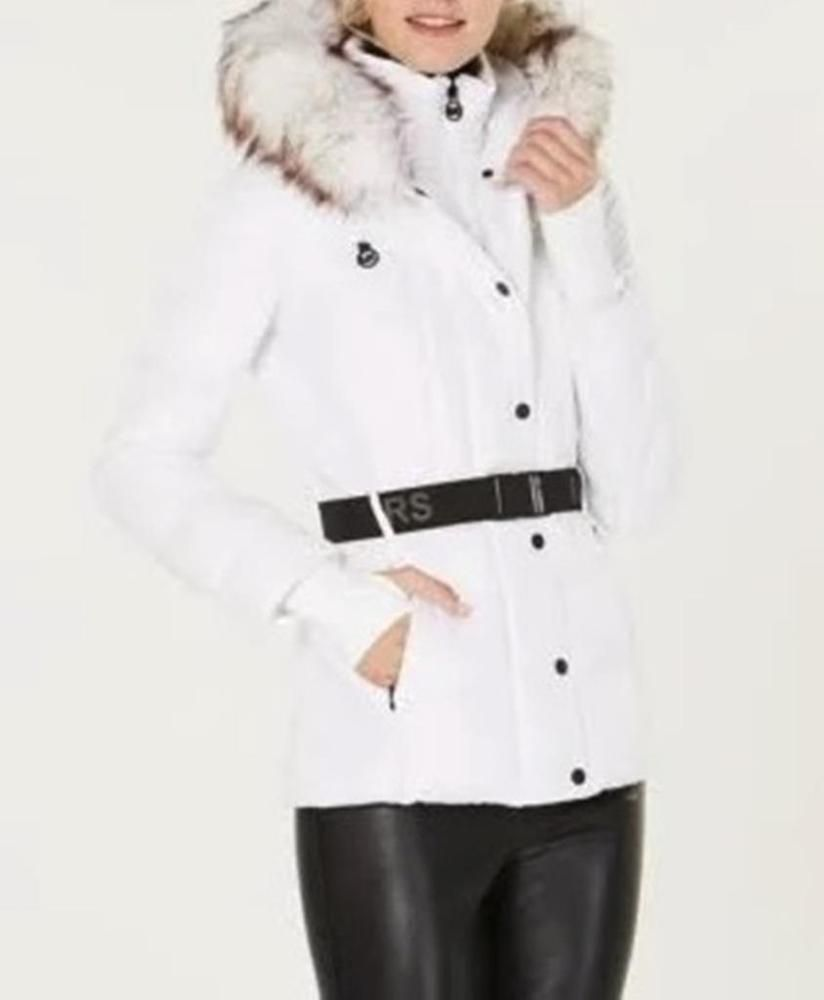 5599e39470c Michael Kors MK Outerwear Winter Church White Fur hood Puffer parka Coat  size XL  MichaelKors  Parka  Any