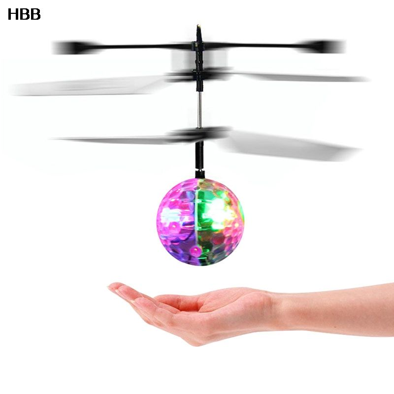 Exceptional Flash Flying Ball Infrared Induction Colorful LED Disco RC Helicopter Kids  Toy //Price: