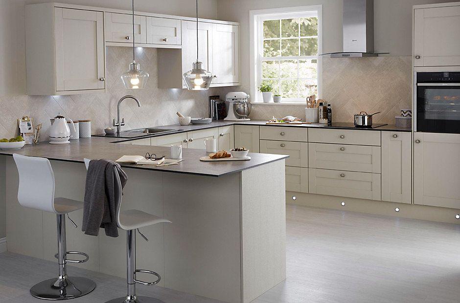 Brookfield style grey kitchen cabinets sterling kitchen for Best thing to line kitchen cabinets