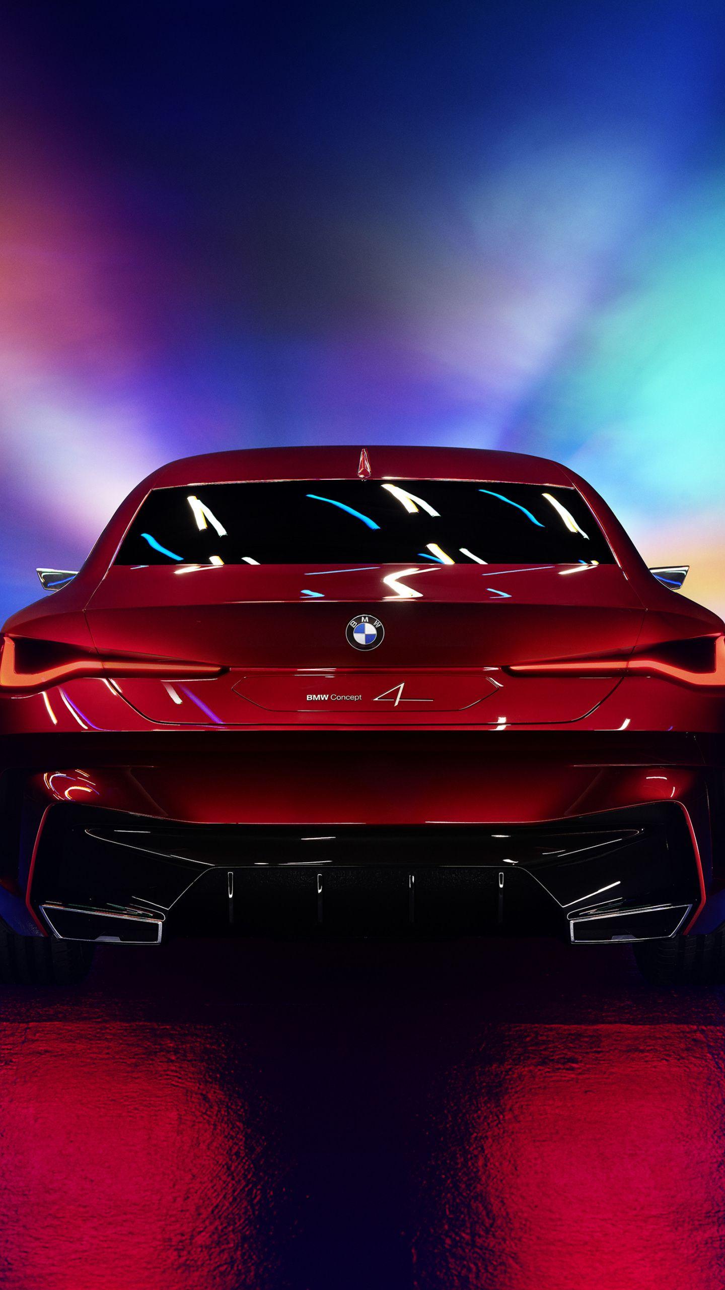 1440x2560 Bmw Concept 4 Car Rear View Wallpaper Bmw Concept Car Wallpapers Bmw