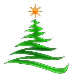 Christmas Stars Modern Christmas Tree With Gold Star Christmas Tree Graphic Christmas Clipart Modern Christmas Tree