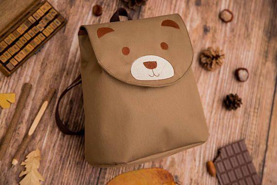 Bear Backpack Embroidered waterproof backpack Toddler