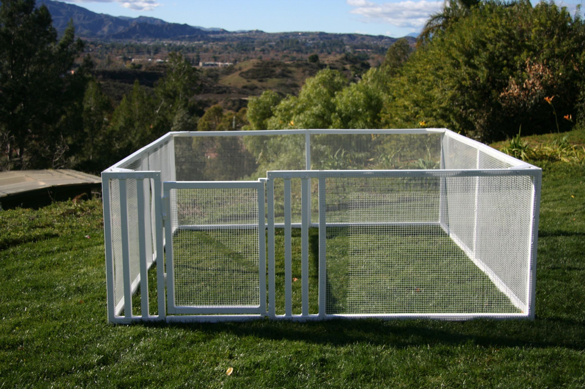 Pet enclosure kits 3x8x8 for Dog fence enclosure