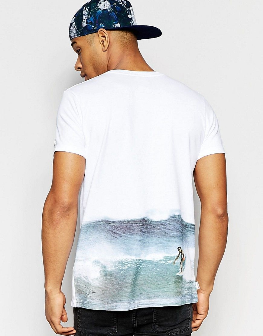 Image 1 of Franklin and Marshall T-Shirt with Surfer Print