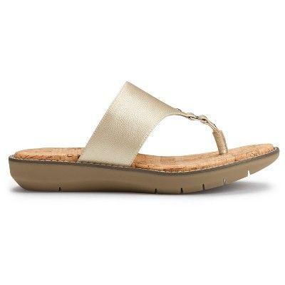 7cad8d53ed36 Women s A2 by Aerosoles Cool Cat Wide Width Slide Sandals - Gold 11W ...