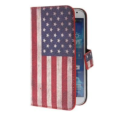 Retro Style US American National Flag PU Leather Case for Samsung Galaxy S4 i9500