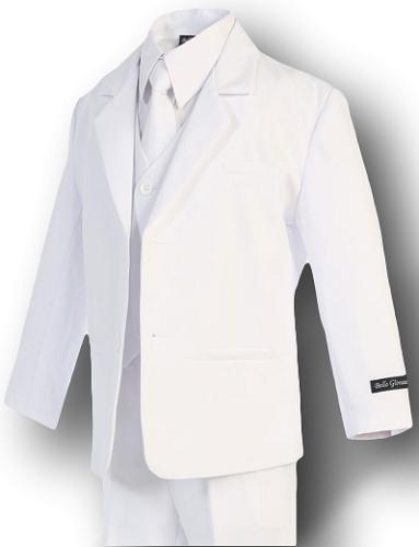 Ring Bear Recital Formal Suit Set White Size 2T,4T Boys Baptism