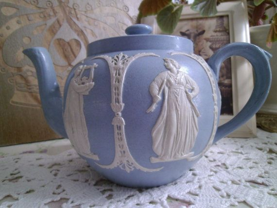 Vintage James Dudson Jasperware Teapot. Made in England c. 1880 ...