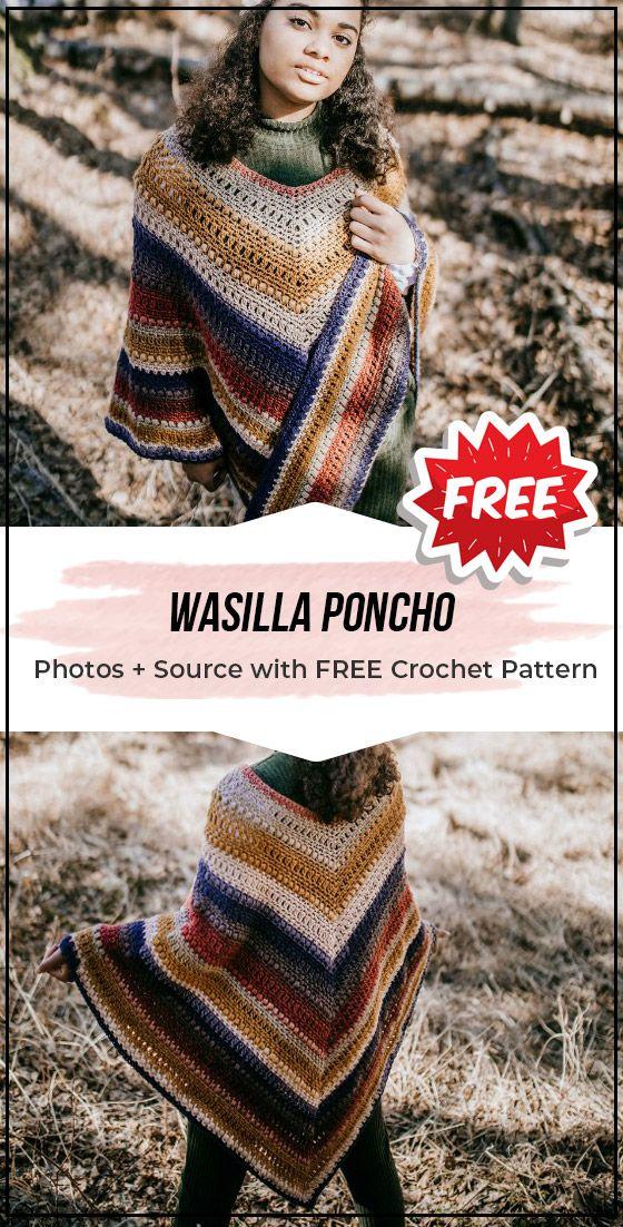 crochet Wasilla Poncho free pattern