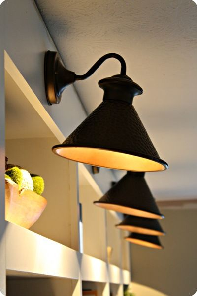 Outdoor Lights Turned Bookcase Library Lights Decorating Your Home Pinterest Lights