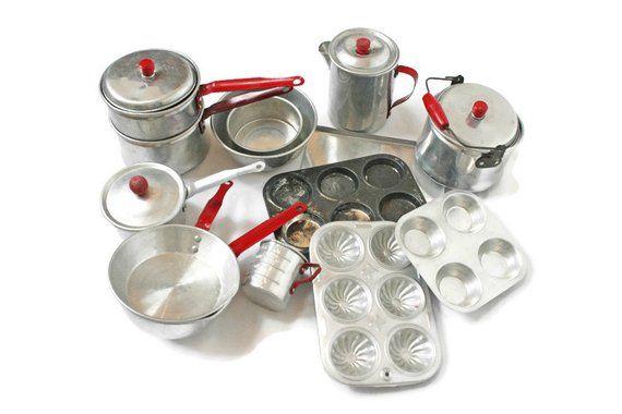 Vintage Toy Baking Cooking Set / 14 Piece Lot / Child's ...