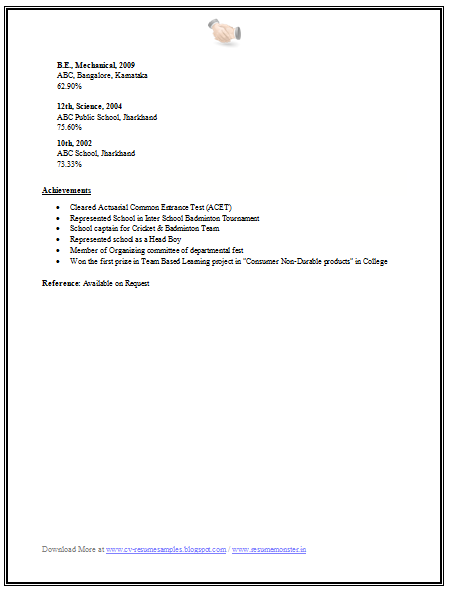 Engineering Mba Finance Resume Sample 2 Resume Mba My Passion