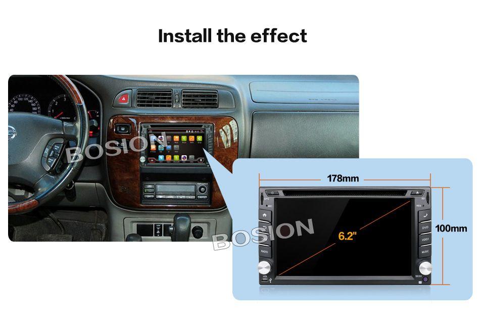 Installation Effect Gps map, Car dvd players, Backup camera