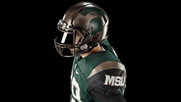 Michigan State Football Updates Nike Uniform Design Michigan State Football College Football Uniforms Football