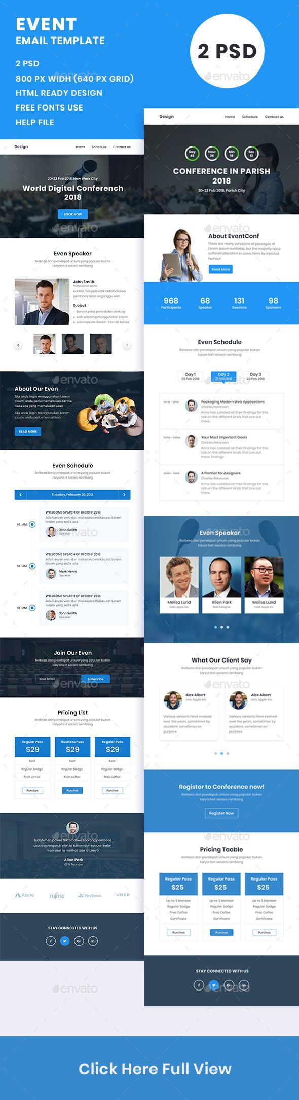 Event Conference Email Template Psd E Newsletter Templates