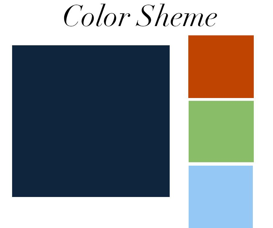 As you can see, navy blue compliments just about any color! I also love navy  paired with gold and crisp white, taupe, or red.