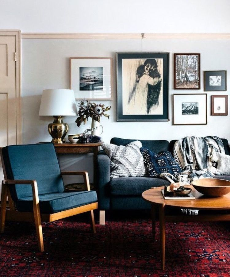 blue chair - formal living room