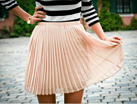 stripes + pleats