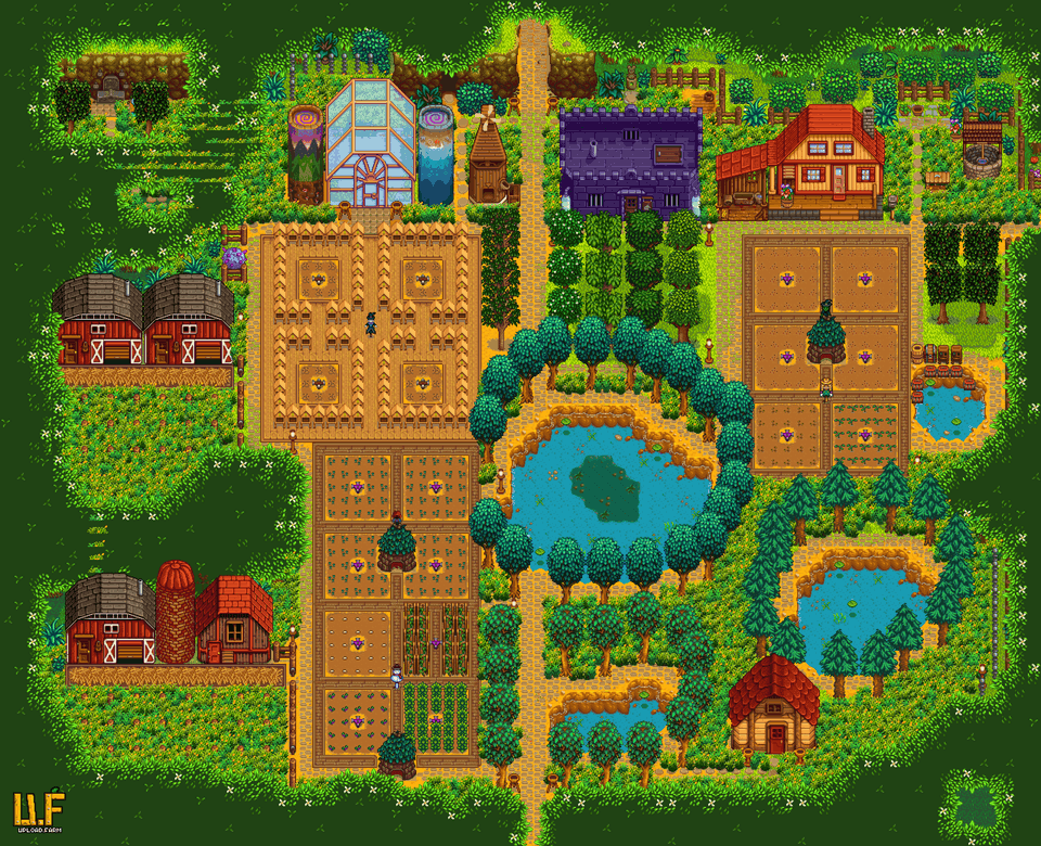 Forest Layout Year 3 Farmsofstardewvalley Stardew Valley