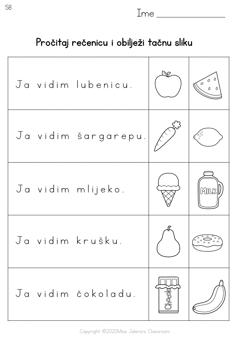 Bosnian Language Food Worksheets Language Language Learners Worksheets